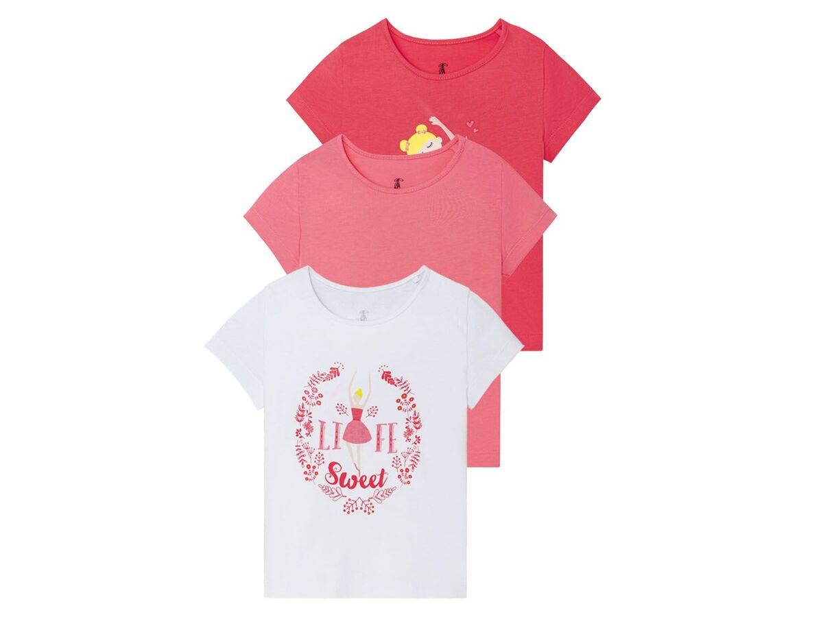 Bild 2 von LUPILU® Kleinkinder T-Shirts Mädchen, 3 Stück, mit Print