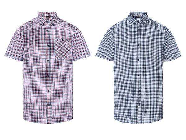 LIVERGY® Freizeithemd Herren, aus reiner Baumwolle
