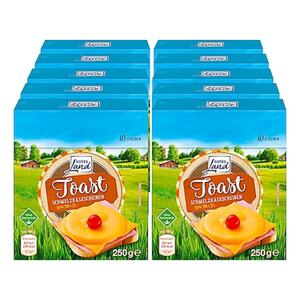 Gutes Land Schmelzkäse Scheiben Toast 250 g, 10er Pack