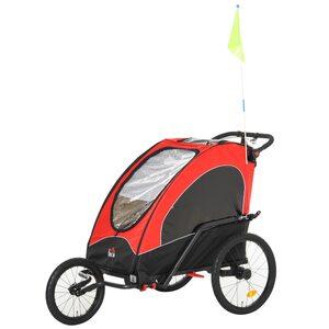 Homcom 2 in 1 Fahrradanhänger für 2 Kinder