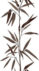 A.S. Creation Panel POP.UP - Pflanze - braun-weiß - 2,5 Meter