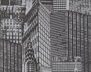A.S. Creation Panel POP.UP 3D - schwarz metallic - Hochhäuser - 52 cm