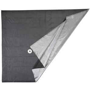 Fliegen- und Sonnenschutz (schwarz-silber)
