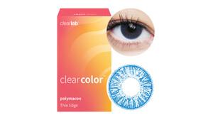 Clearcolor™ Colors - Aqua Blue Farblinsen Sphärisch 2 Stück unisex