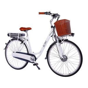 "LLobe              Trekking E-Bike ""White Motion 2.0"", 10,4 Ah, weiß"