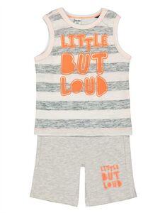Baby Set aus Top und Hose - Message-Print