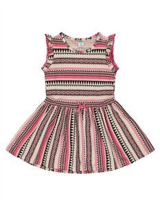 Baby Jersey Kleid mit Ethno-Muster