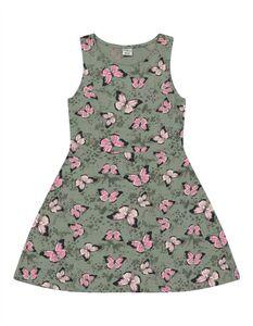 Mädchen Kleid - Schmetterlings-Print