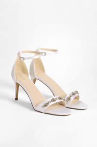 Sandaletten mit Satin