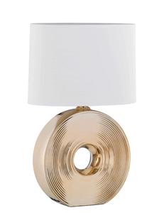 Fischer Leuchten Tischleuchte Eye, Keramik gold