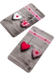 Herdabdeckplatten mit Herzmotiv (2er Pack)