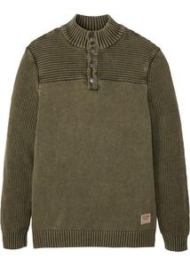 Pflegeleichter Baumwoll-Troyer Pullover