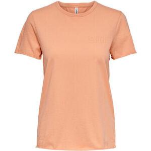 Only T-Shirt, uni, Rundhals, Kurzarm, für Damen