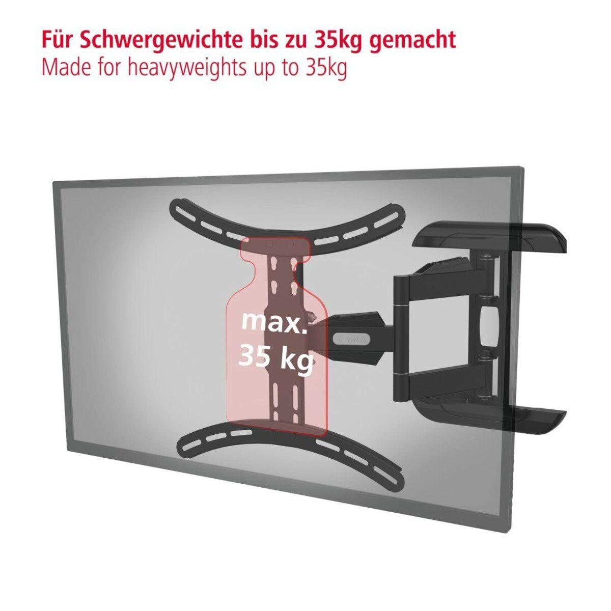 Bild 4 von Hama TV Wandhalter schwenkbar bis 165cm/ 65 Zoll, 140cm/ 55 Zoll »FULLMOTION, vollbeweglich«