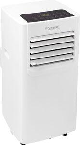 bestron Klimagerät mobiles Gerät, für Räume bis 28m², Kühlleistung 2,1 kW mit umweltfreundlichem Kühlmittel, 7.000BTU/h, Farbe: weiß