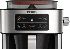 Krups Filterkaffeemaschine KM760D Aroma Partner, 1,25l Kaffeekanne, Integrierte Kaffee-Vorratsbox; Auto-Abschaltung; Timer; 2-10 Tassen; 1,25 L