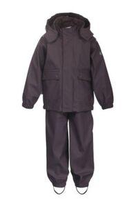 2tlg. Regenanzug mit abnehmbarer Kapuze lila Gr. 92