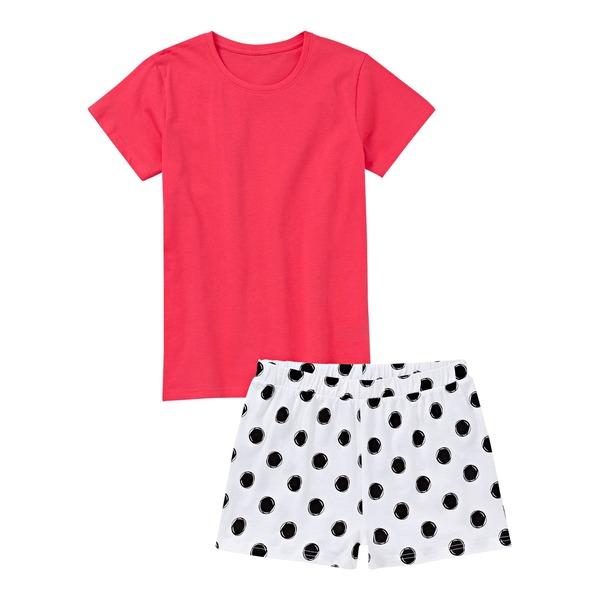 Mädchen-Shorty mit Punkte-Muster, 2-teilig