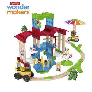 Fisher-Price Wunder Werker Schule mit Spielplatz, Baukasten, Konstruktions-Spielzeug