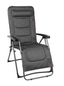 Tarrington House Luxus Liegesessel XL, Stahl/Polsterung 2D Mesh, schwarz / grau