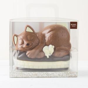 Schokoladen Katzenkörbchen von Hussel, 225g