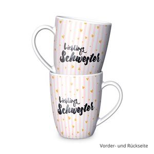"""Kaffee Becher """"Lieblings-Schwester"""""""
