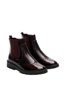 Damen Chelsea Boots im Materialmix