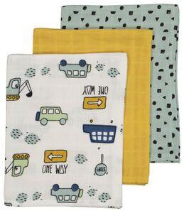 HEMA 3er-Pack Mull-Waschhandschuhe