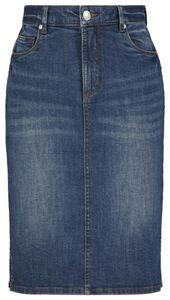 HEMA Damen-Jeansrock, Figurformend Blau