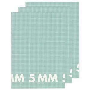 HEMA 3er-Pack Hefte, DIN A4, Kariert (5 X 5 Mm)