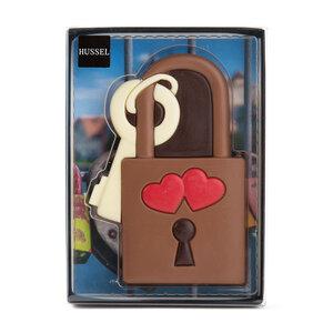 Liebesschloss aus Schokolade von Hussel, 80g