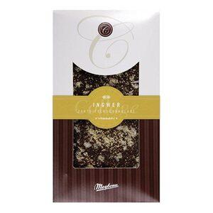 Zartbitterschokolade bestreut mit Ingwer, 100g