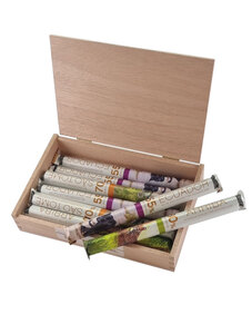 Ursprungsschokoladen-Holzkiste Edelbitter-Edition von Hussel, 444g