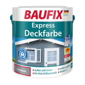 Baufix Express Deckfarbe dunkelgrau, 2,5 l