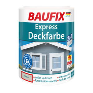 Baufix Express Deckfarbe hellgrau, 1 l