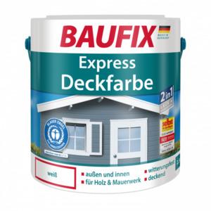 Baufix  Express Deckfarbe weiß, 2,5 l