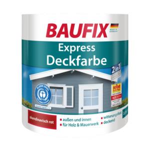 Baufix Express Deckfarbe skandinavisch rot, 2,5 l
