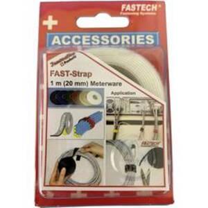 FASTECH® 910-010 Klettband zum Bündeln Haft- und Flauschteil (L x B) 1000 mm x 20 mm Weiß 1 m