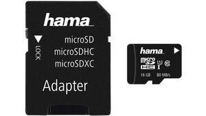 Hama microSDHC 16GB Class 10 UHS-I 80MB/s + Adapter/Foto