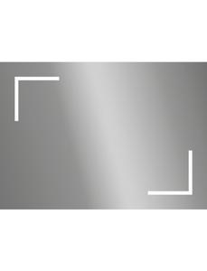 Kosmetikspiegel, beleuchtet, BxH: 70 x 50 cm