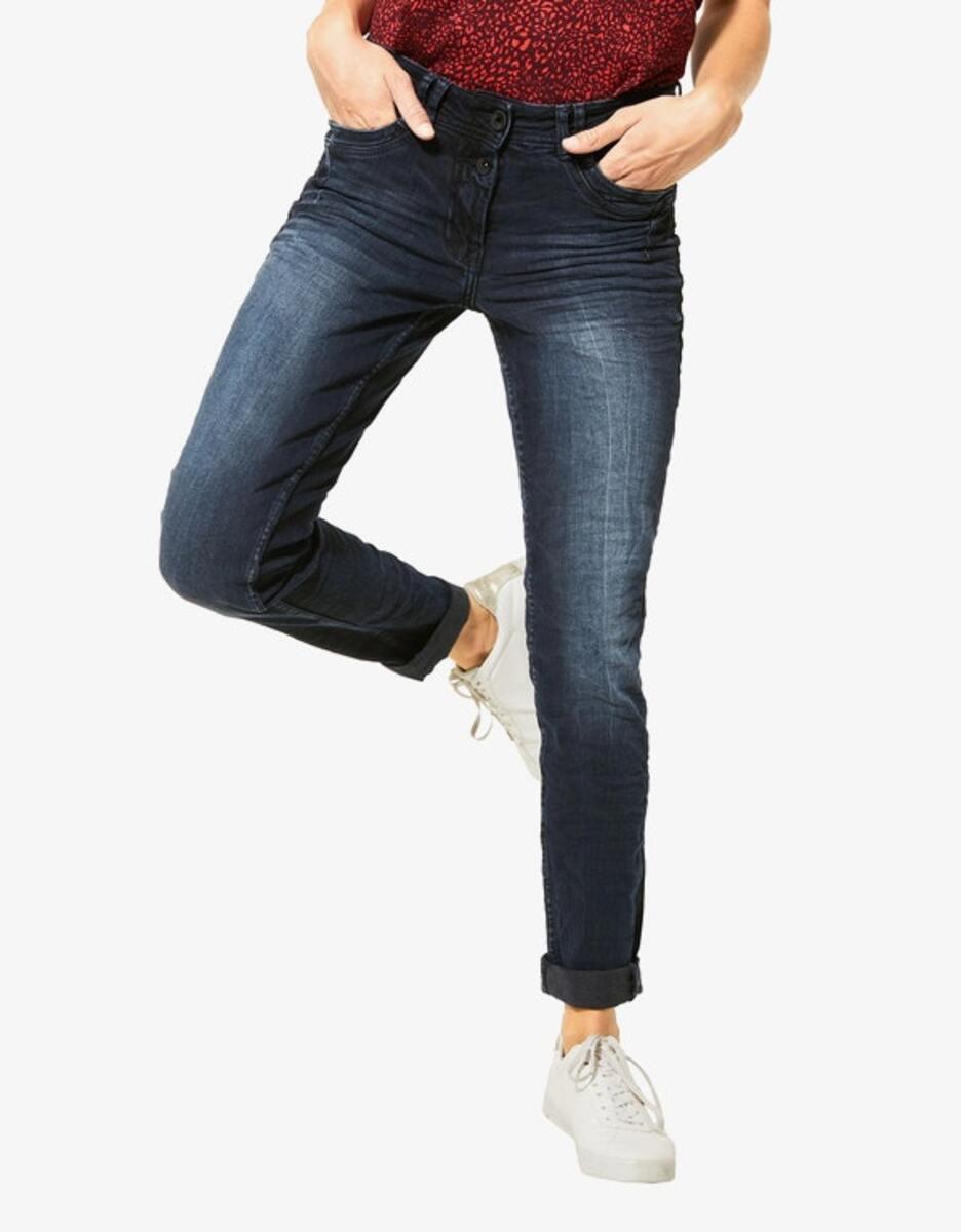 Bild 2 von CECIL - Denim-Jeanshose mit Highlights und Crash-Effekt