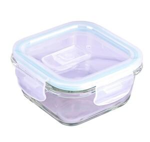 Steuber Frischhaltedose aus Glas, quadratisch, ca. 320 ml