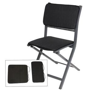 Sitz- und Rückenkissenset 2-teilig Anthrazit