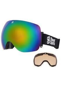 PLANET SPORTS Lux Rainbow Snowboardbrille - Schwarz