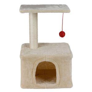 Kratzbaum für Katzen 40x30x62cm Beige