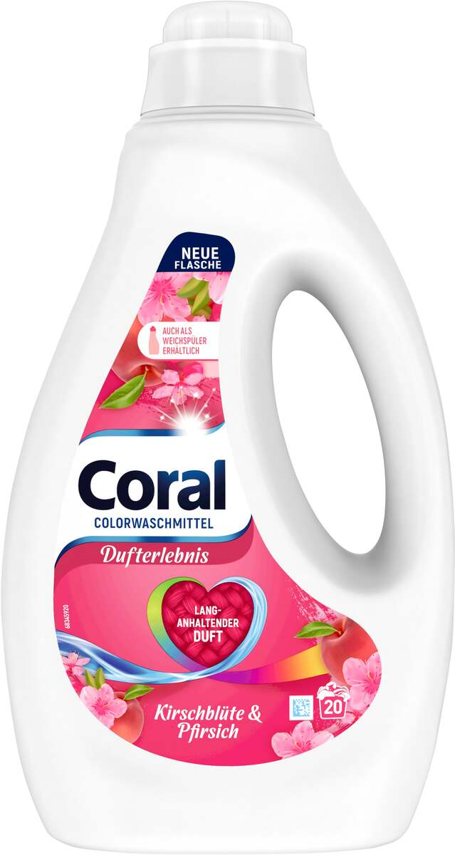Bild 1 von Coral Kirschblüte & Pfirsich Flüssigwaschmittel 20 WL