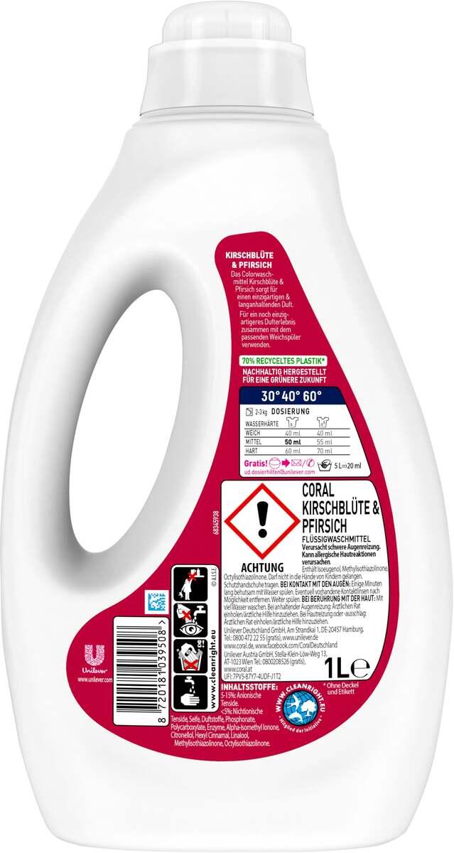 Bild 2 von Coral Kirschblüte & Pfirsich Flüssigwaschmittel 20 WL