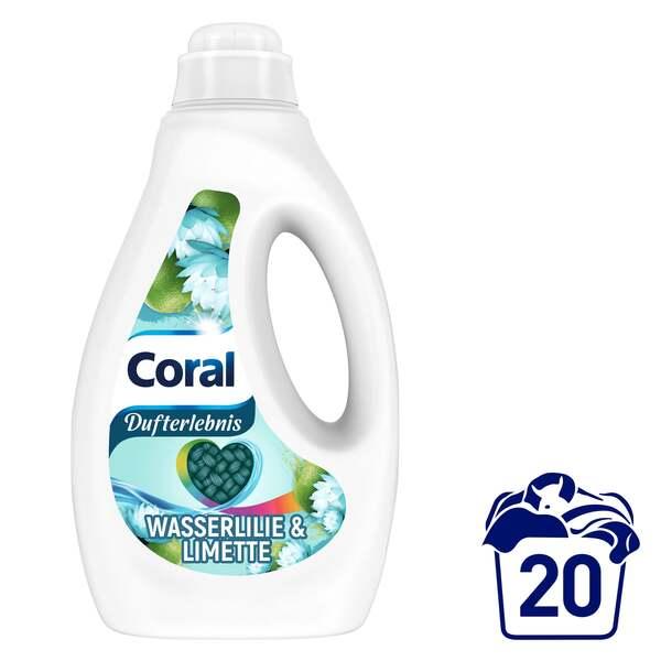 Coral Wasserlilie & Limette Flüssigwaschmittel 20 WL