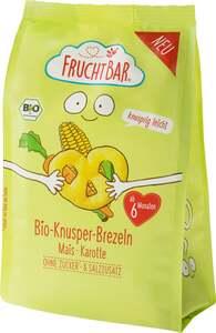 FruchtBar Bio Knusper-Brezeln Mais, Karotte