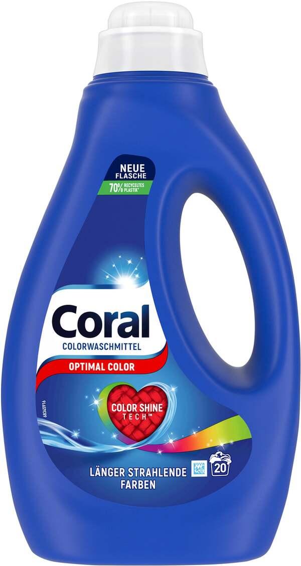 Coral Optimal Color Flüssigwaschmittel 20 WL